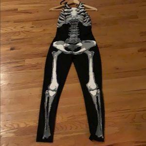 Skeleton halter one piece pantsuit size medium.